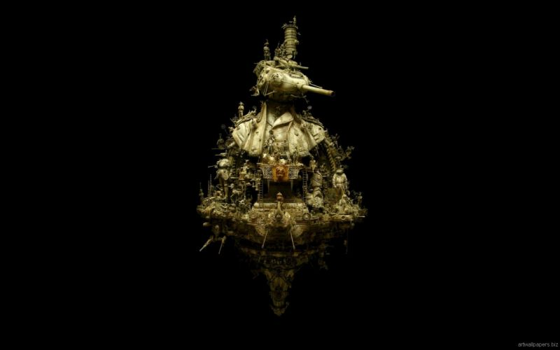 Kris Kuksi Art Sculptures dark r wallpaper