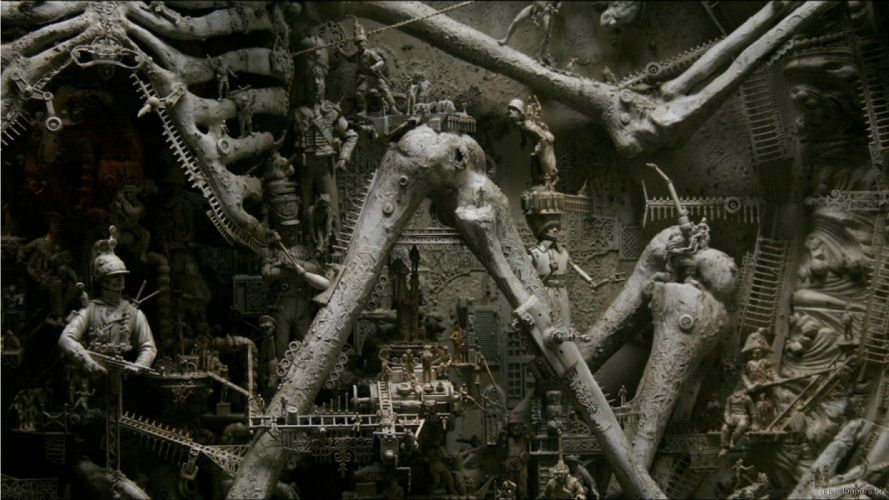 Kris Kuksi Art Sculptures dark e wallpaper