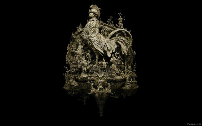 Kris Kuksi Art Sculptures dark g wallpaper