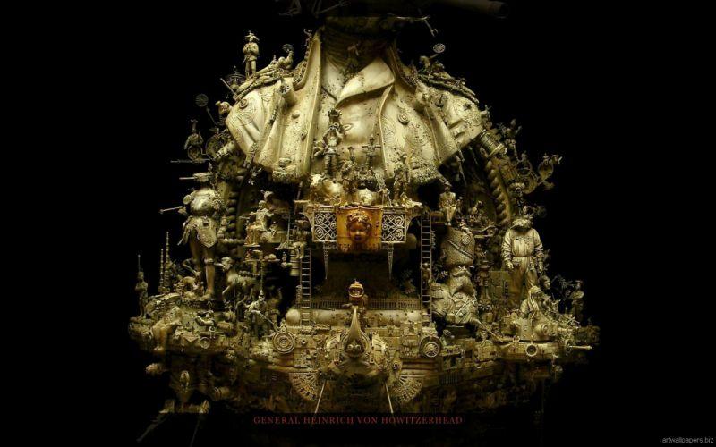 Kris Kuksi Art Sculptures dark u wallpaper