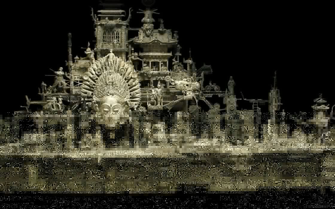 Kris Kuksi Art Sculptures dark       z wallpaper