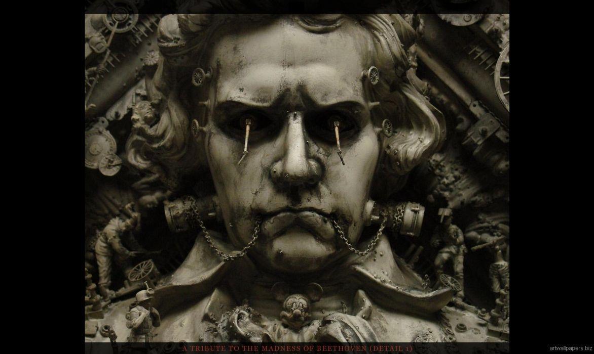 Kris Kuksi Art Sculptures dark      m wallpaper