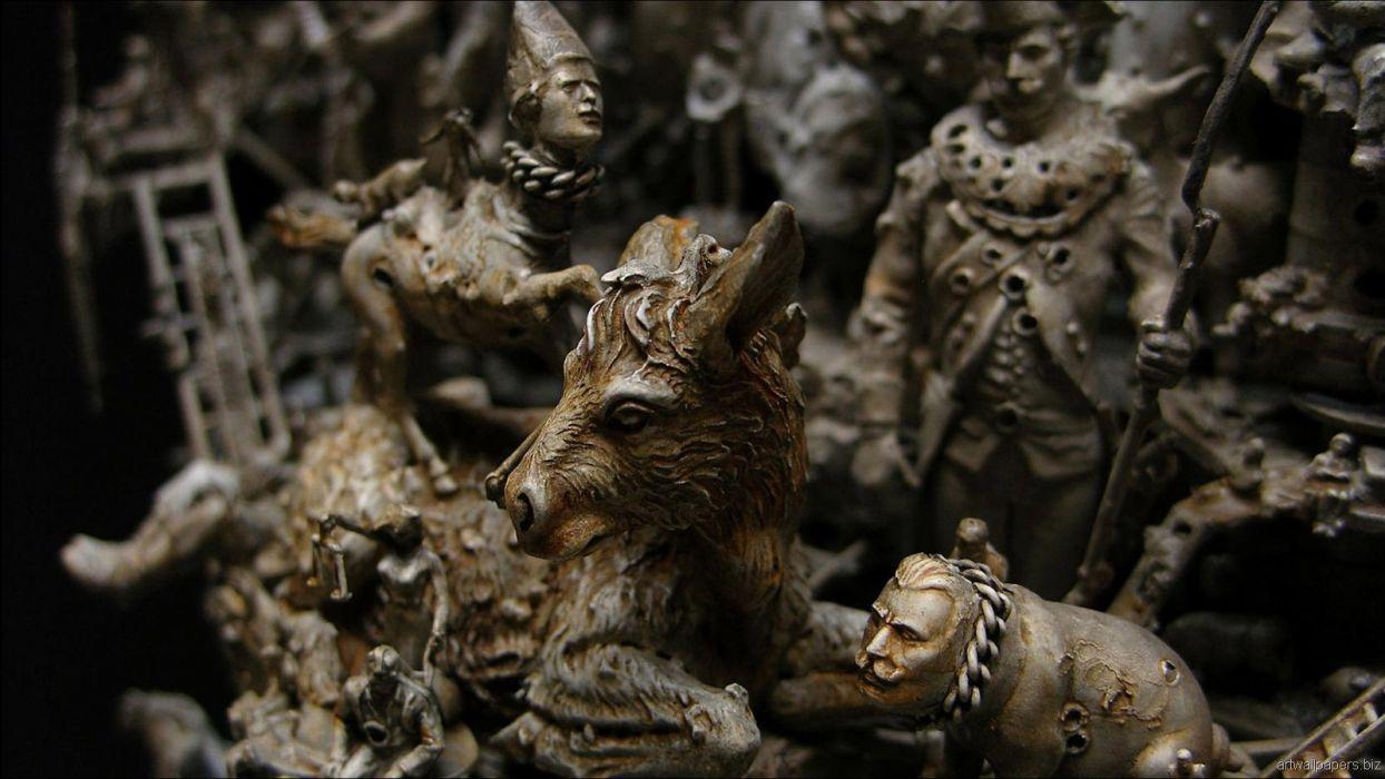 Kris Kuksi Art Sculptures dark fantasy_JPG wallpaper