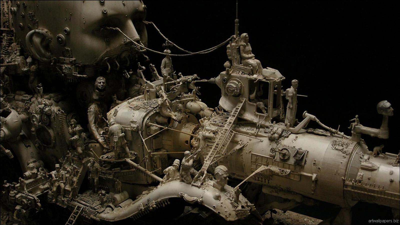 Kris Kuksi Art Sculptures dark sci-fi steampunk g_JPG ...
