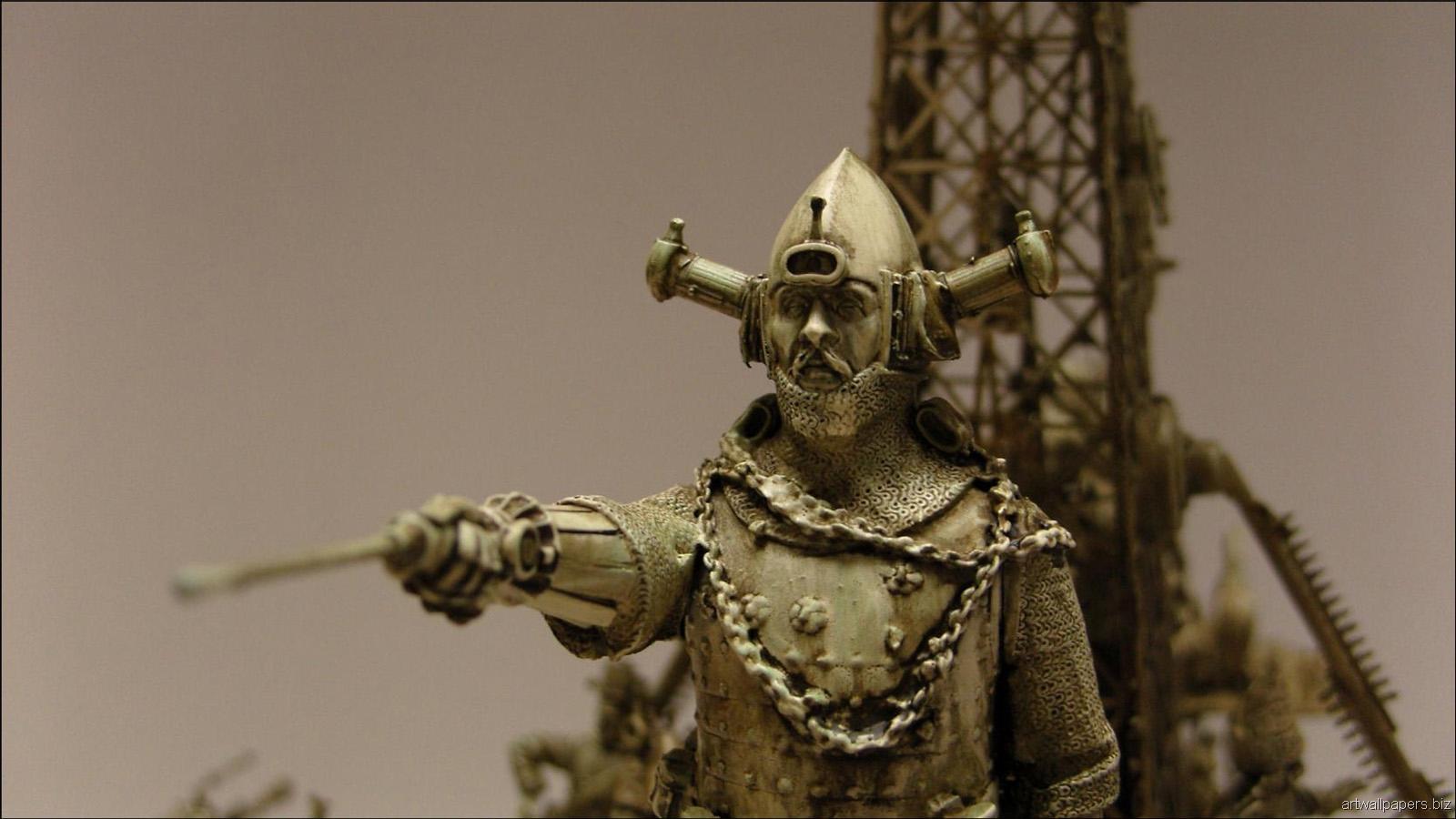 Kris Kuksi Art Sculptures dark sci-fi steampunk k ...