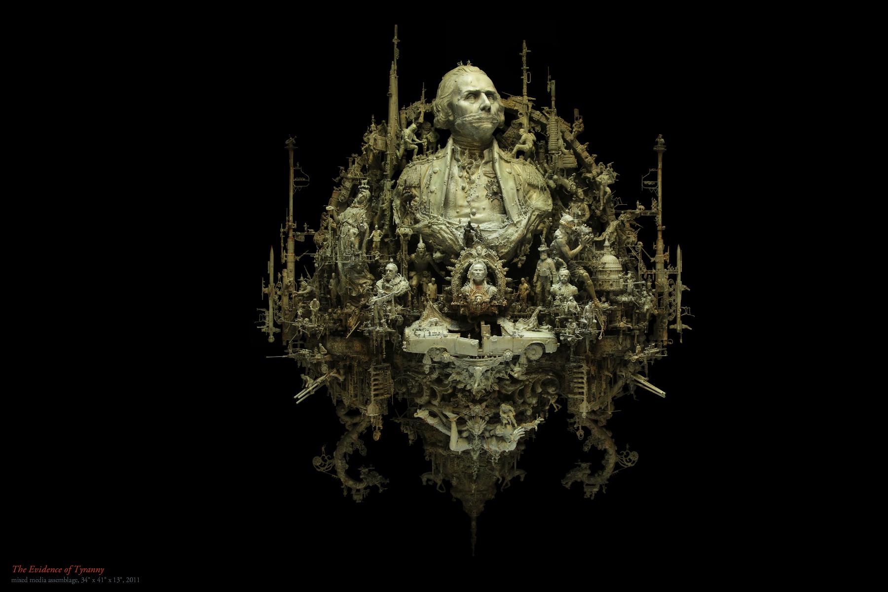 Kris Kuksi Art Sculptures dark sci-fi steampunk p ...