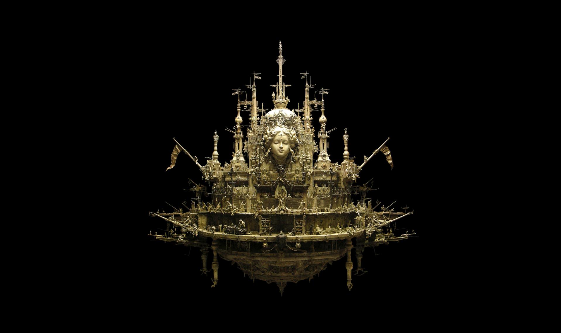 Kris Kuksi Art Sculptures dark sci-fi steampunk z ...