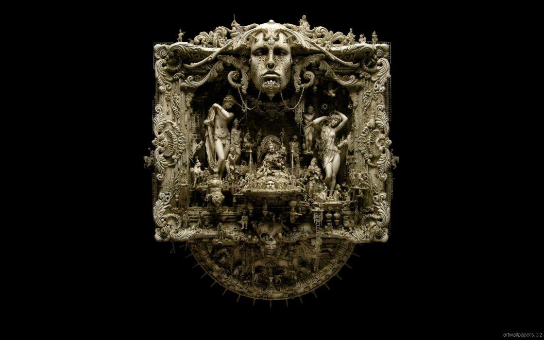Kris Kuksi Art Sculptures dark_JPG wallpaper