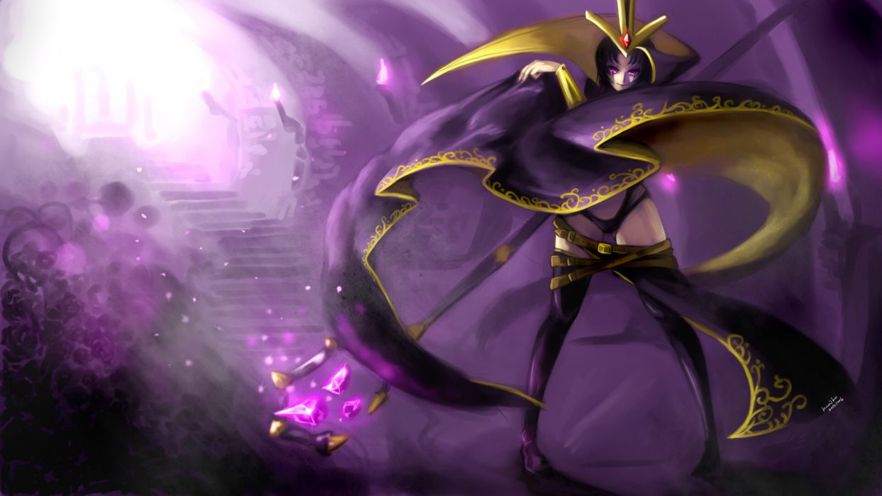 League of Legends LeBlanc Purple Drawing wallpaper