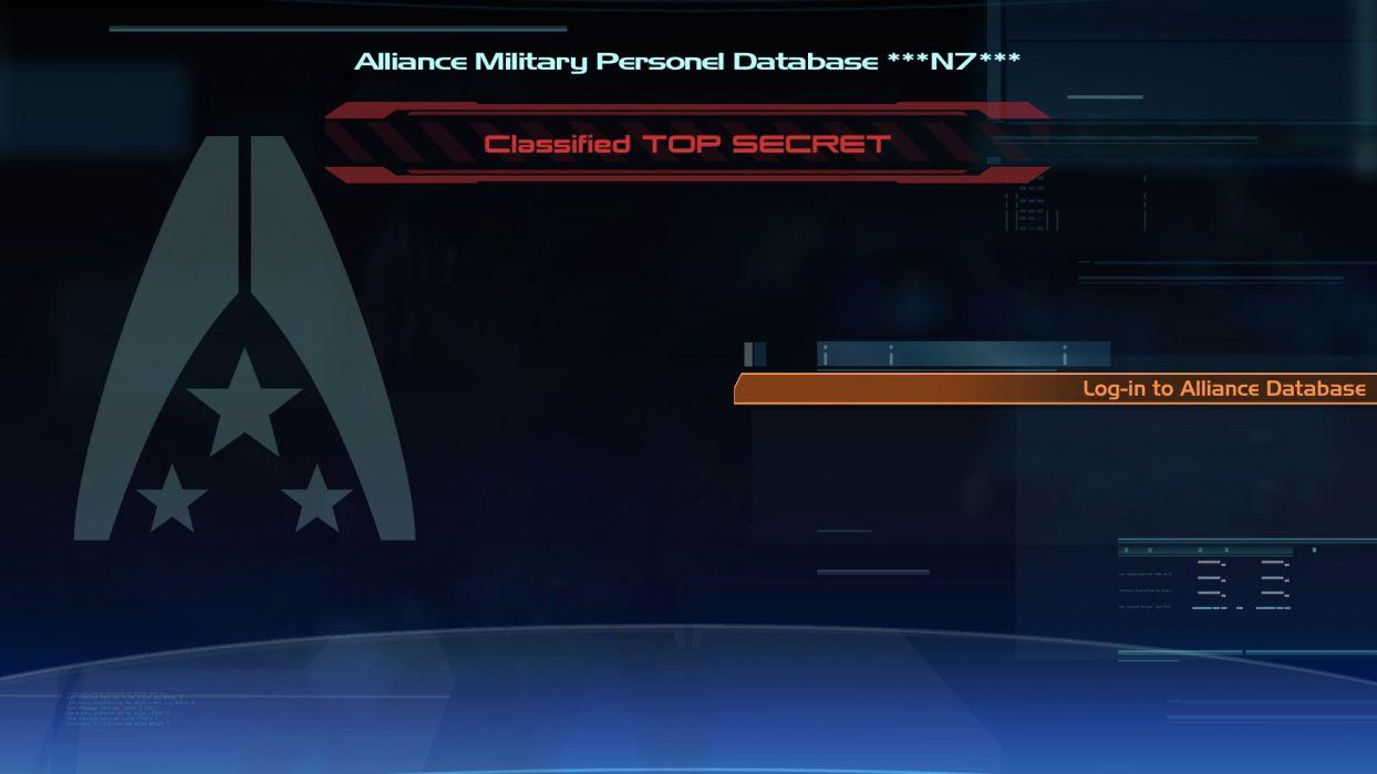 Login Mass Effect wallpaper