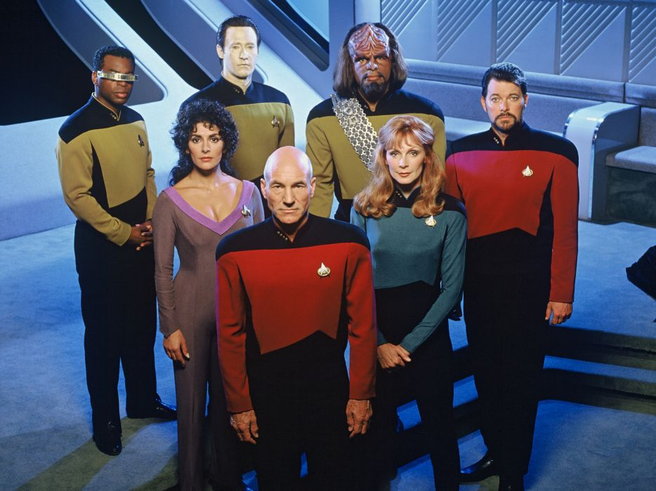 Star Trek Cast The Next Generation Patrick Stewart wallpaper
