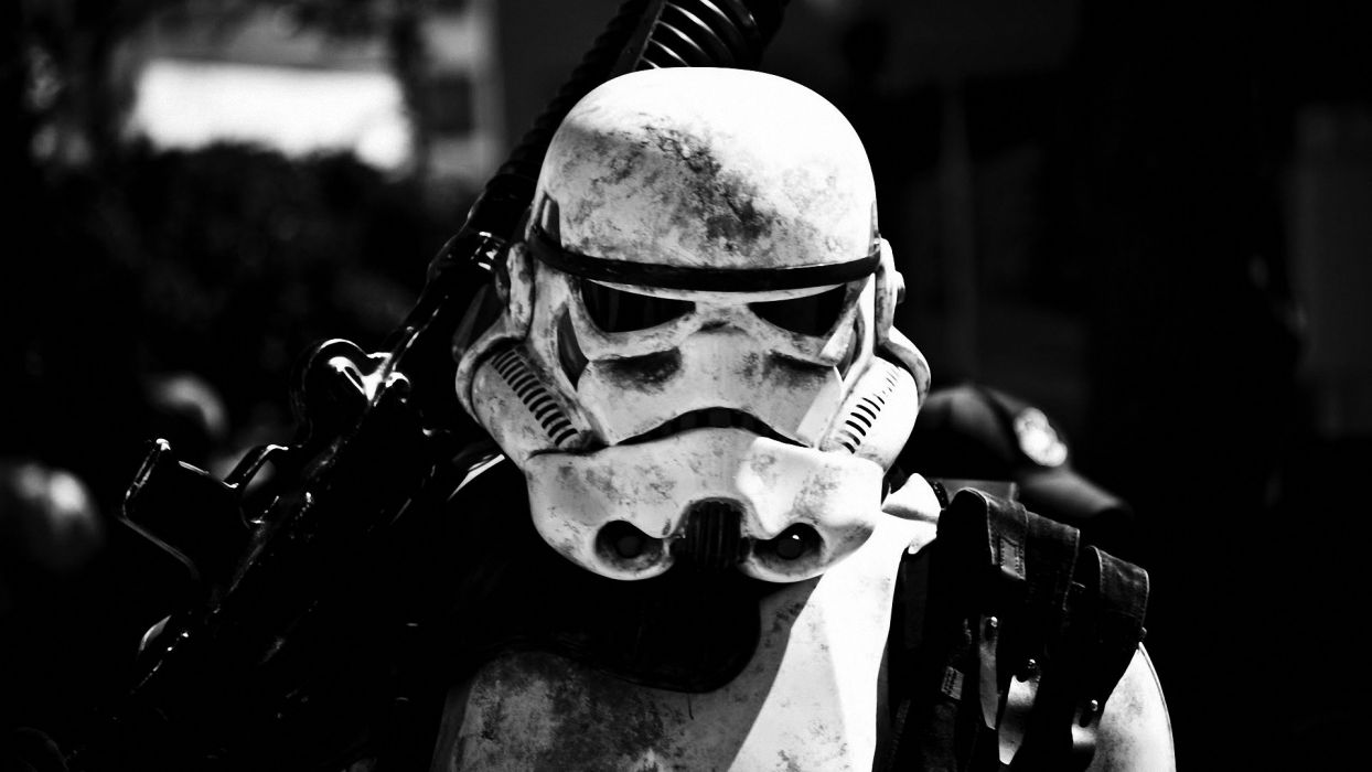 Star Wars Stormtrooper BW wallpaper