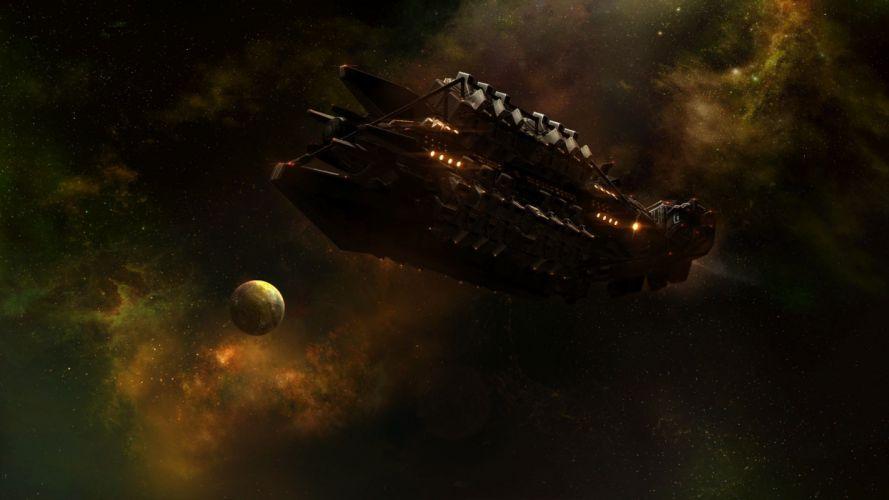 StarCraft Stars spaceships sci-fi wallpaper