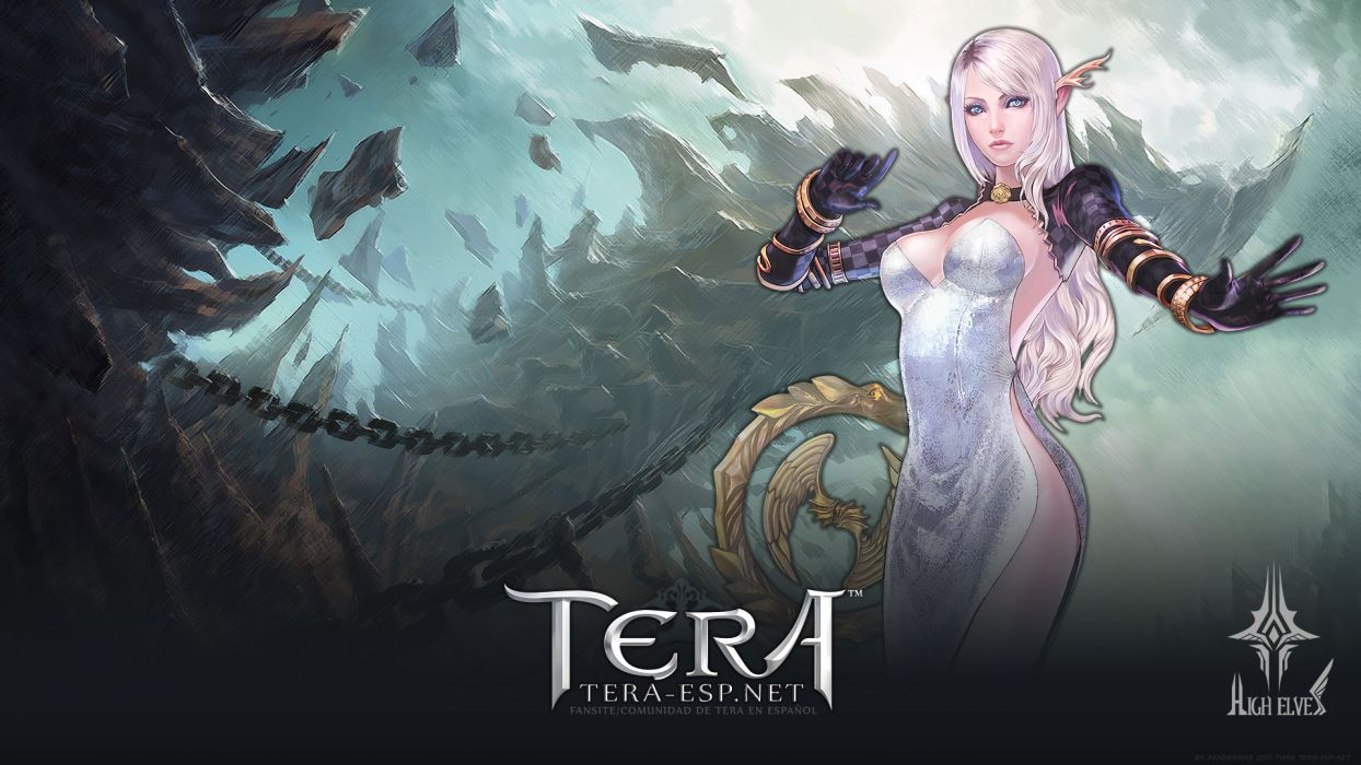 Tera Online fantasy anime     d wallpaper