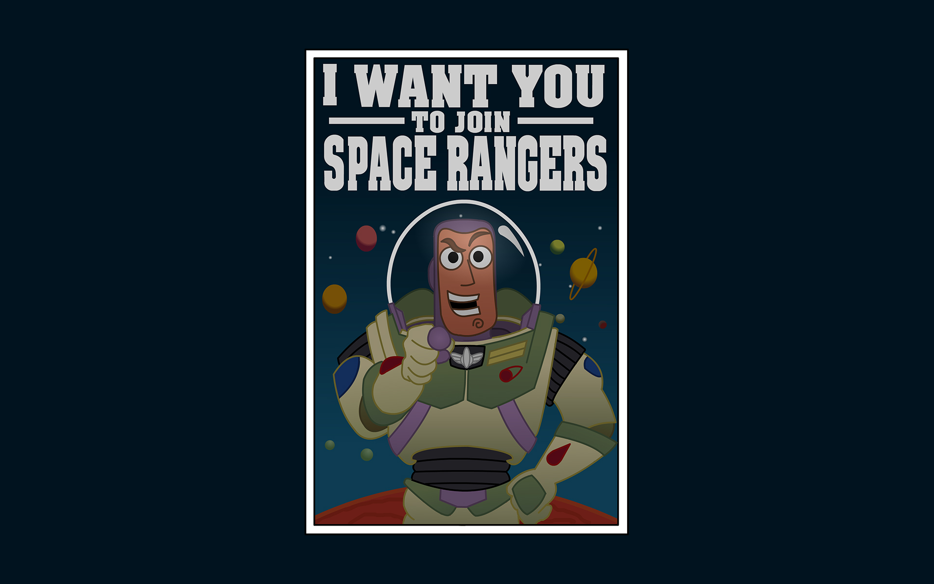 Toy Story Buzz Lightyear Space Rangers Poster Wallpaper 1920x1200
