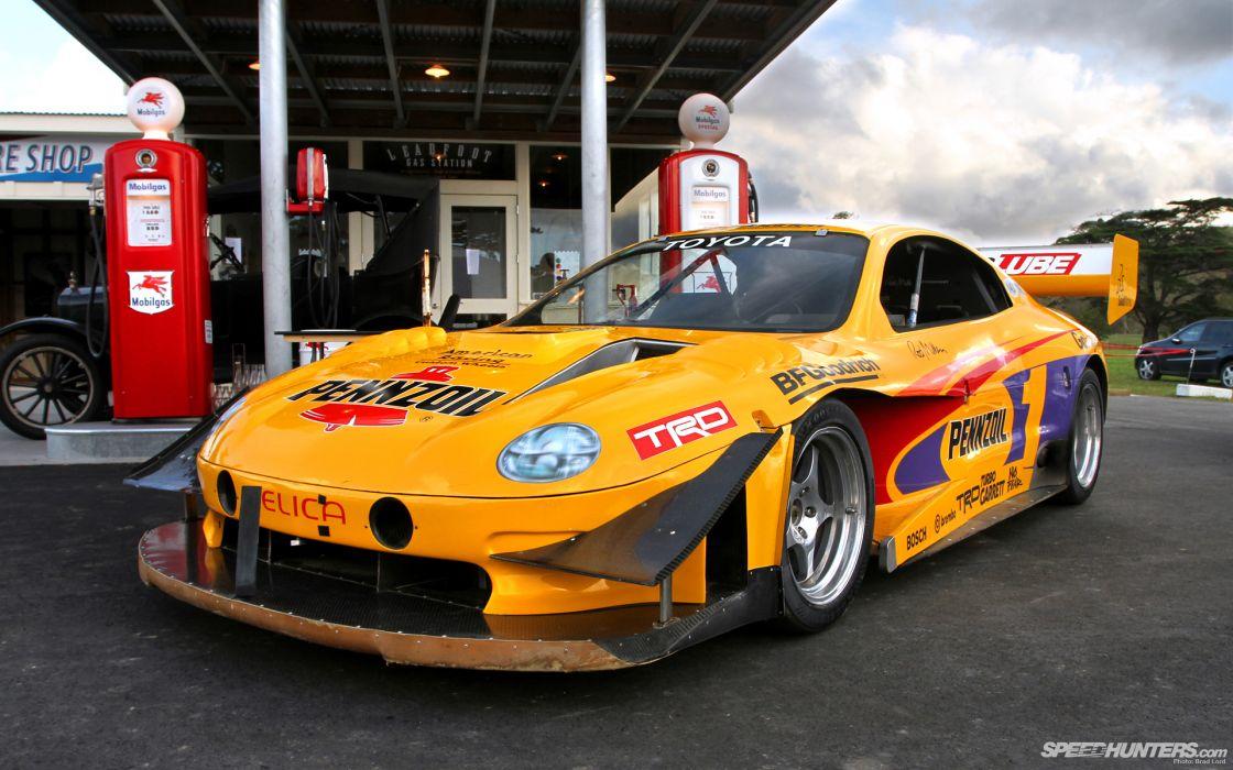 Toyota Celica Race Car Gas Station Wallpaper