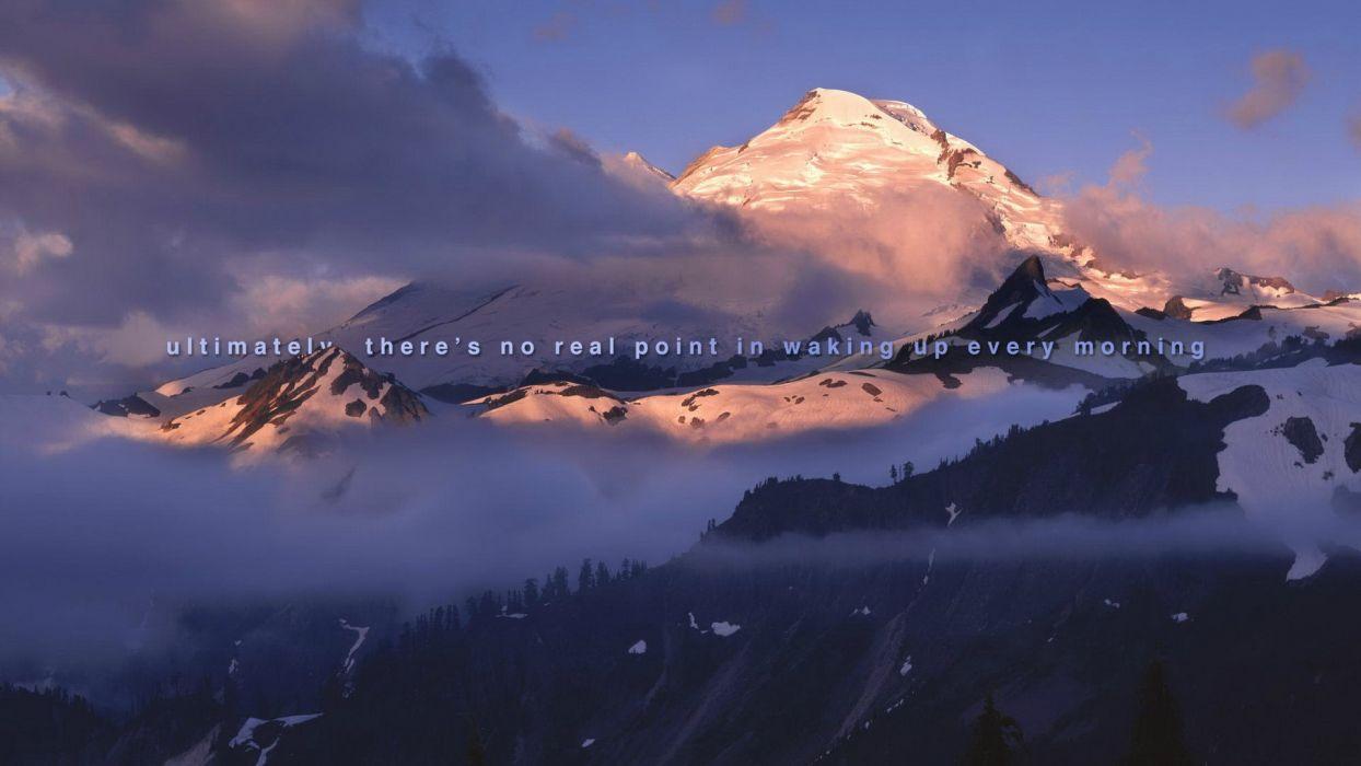 Wake Up sadic mountains wallpaper