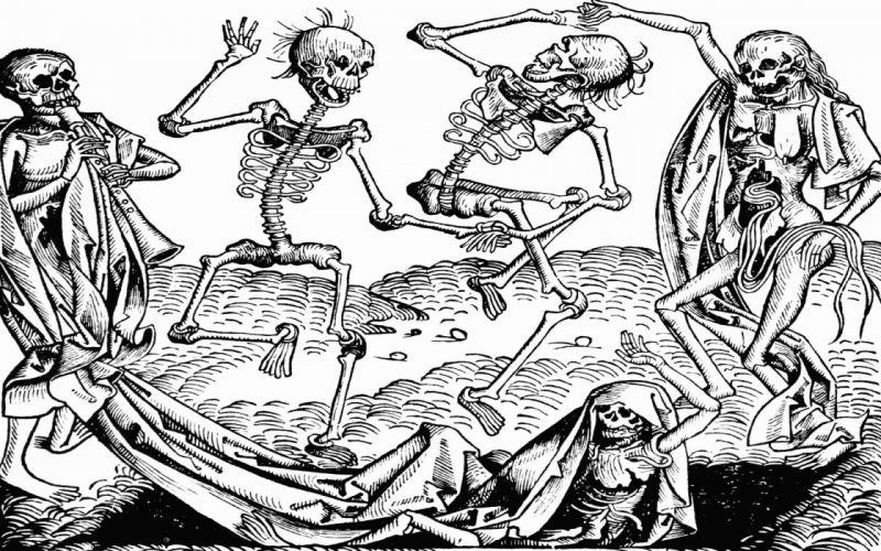 Nuremberg Dance Death dark horror skeleton skulls wallpaper