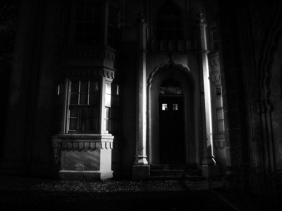 dark horror buildings architecture wallpaper