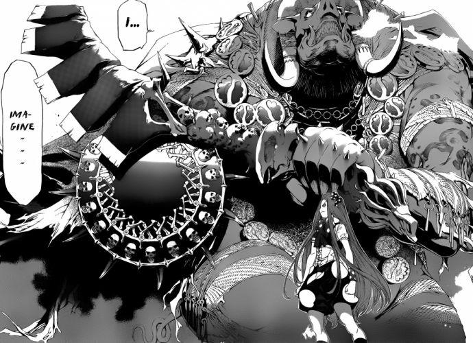 dark horror occult demon anime wallpaper