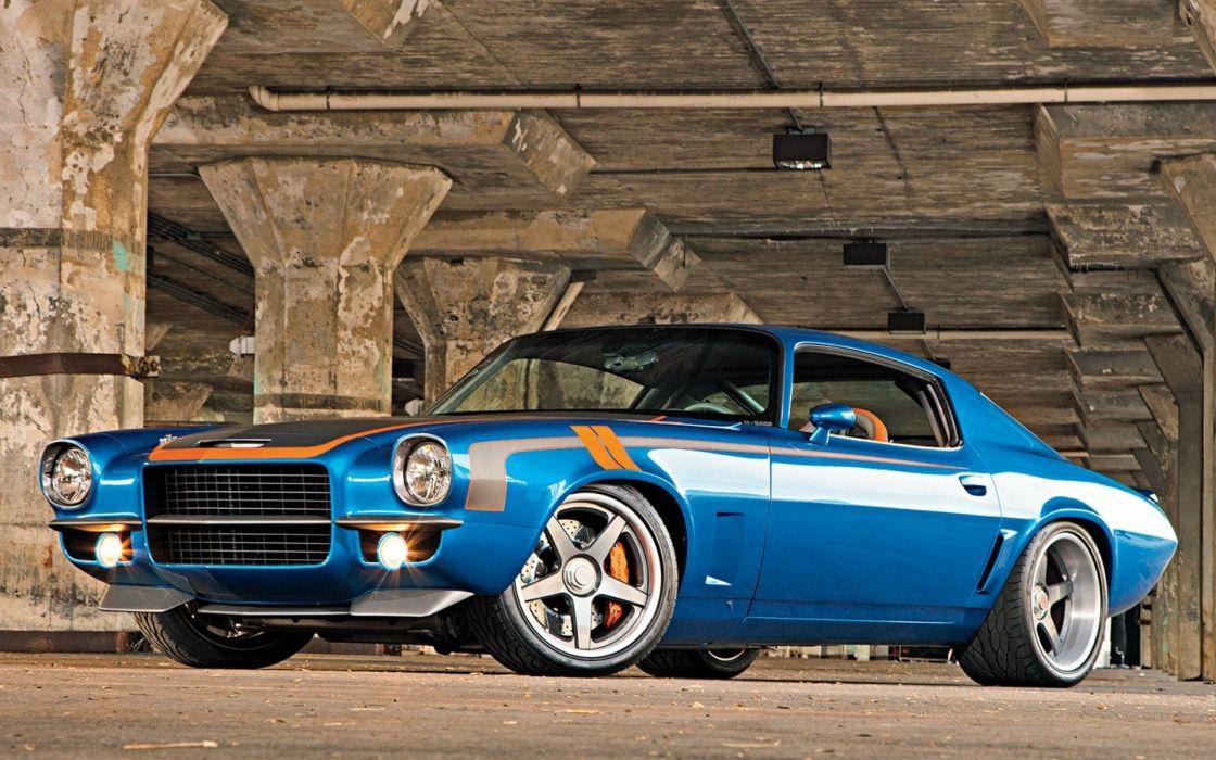 1971 tuning Chevrolet Camaro hot rod muscle cars wallpaper