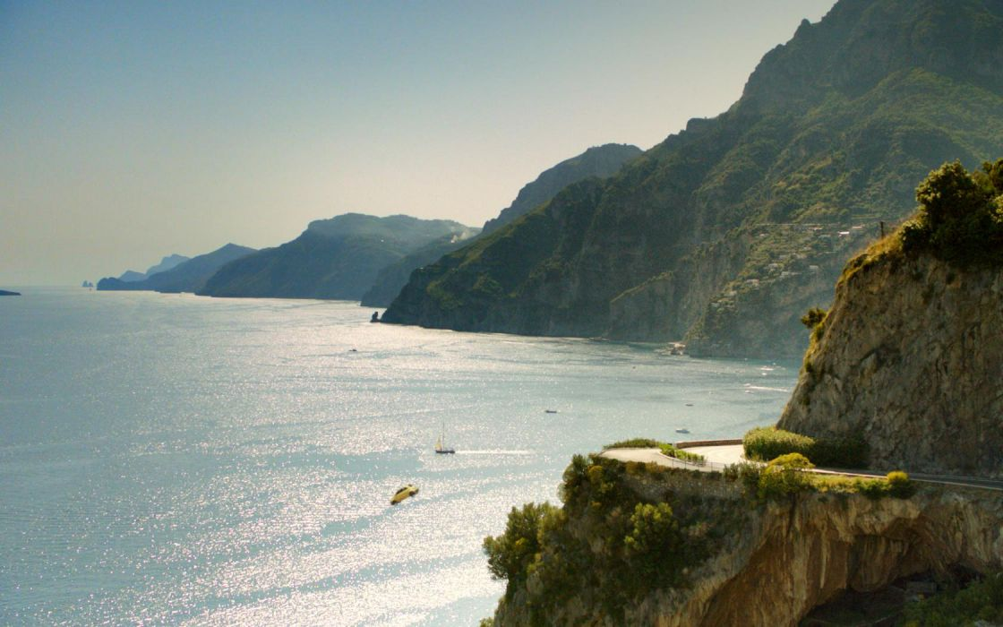 advertising italy sea fall hills mountains landscape nature dark cars wallpaper