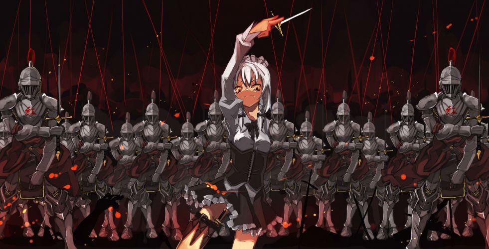 armor izayoi sakuya knife shimadoriru sword touhou weapon wallpaper
