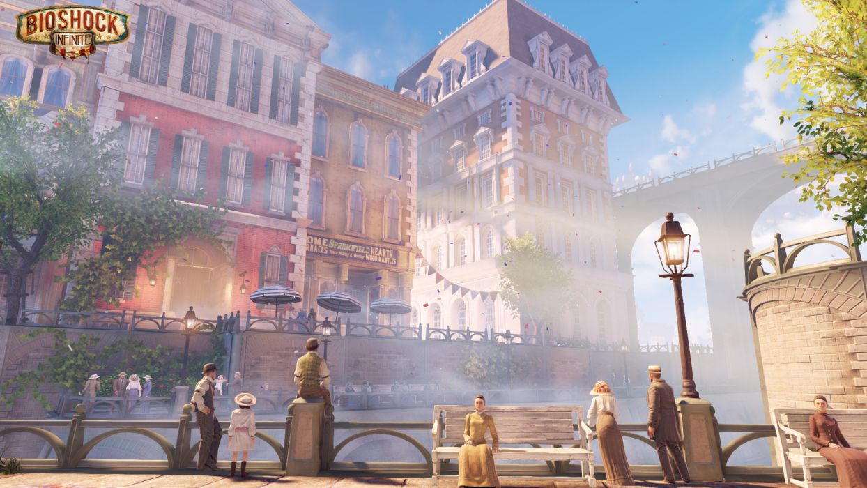 Bioshock Infinite Steampunk Buildings Wallpaper