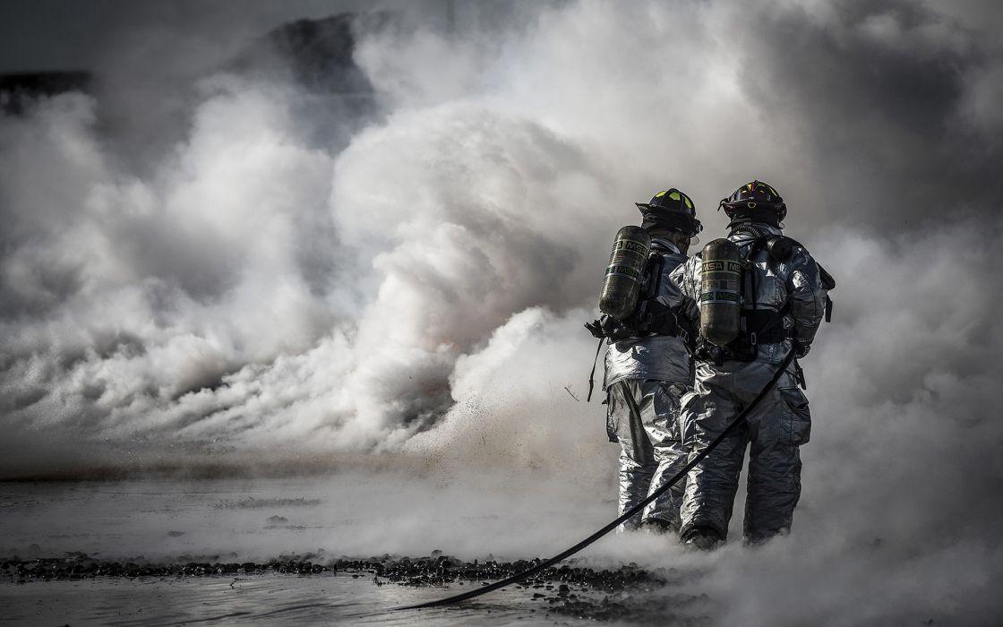 Firefighters Smoke wallpaper