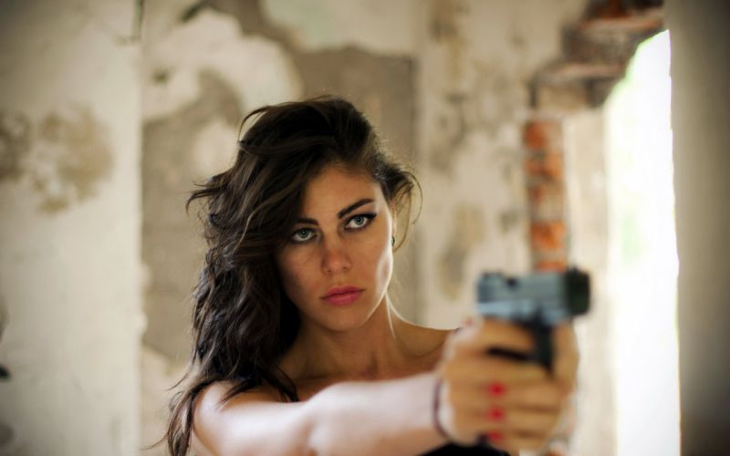 girl gun the situation weapons wallpaper