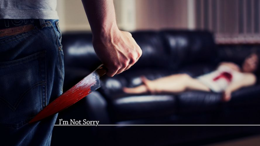knife blood the situation horror dark wallpaper