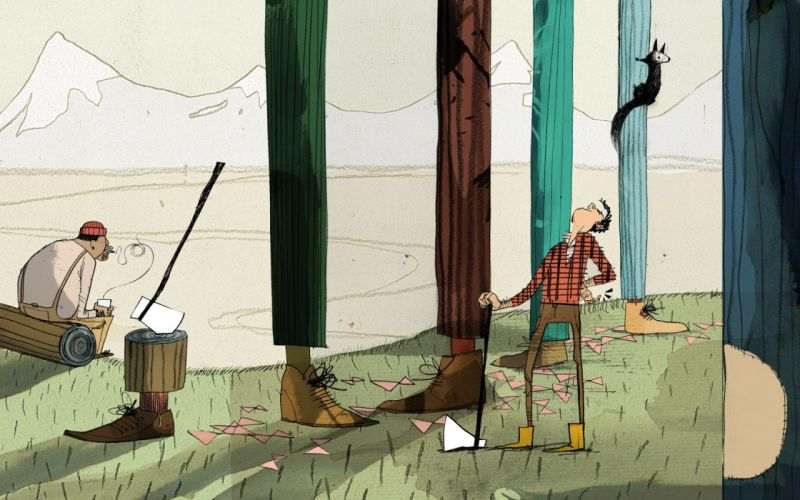 legs trees loggers lumberjacks drawing shoes protein axes mountains wallpaper
