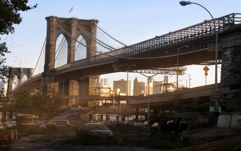quarantine Bridge New York post apocalyptic wallpaper