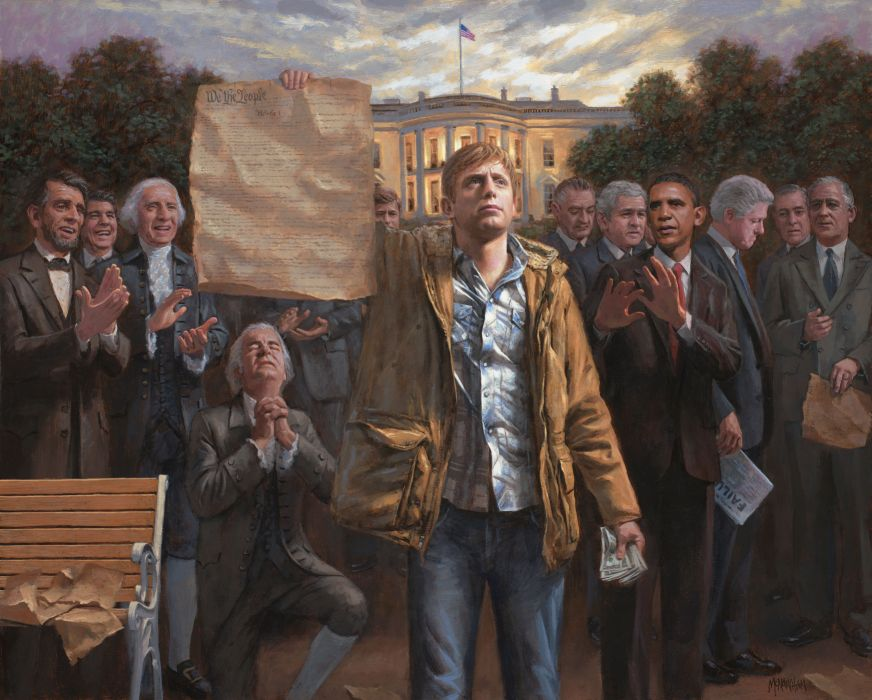 White House Washington USA United States President Barack Obama George W_ Bush Abraham Lincoln wallpaper
