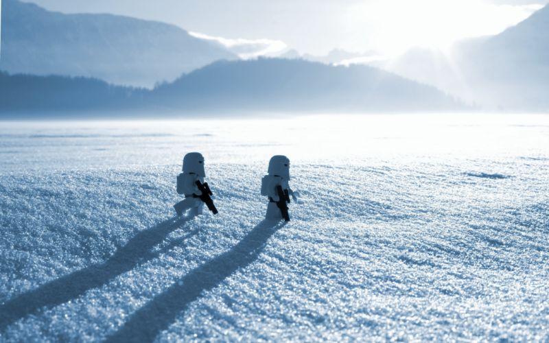 snow close-up star wars sci-fi movies winter toys wallpaper