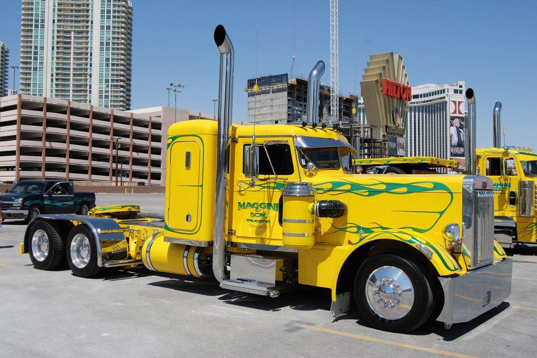 peterbilt 351 custom big rig truck wallpaper