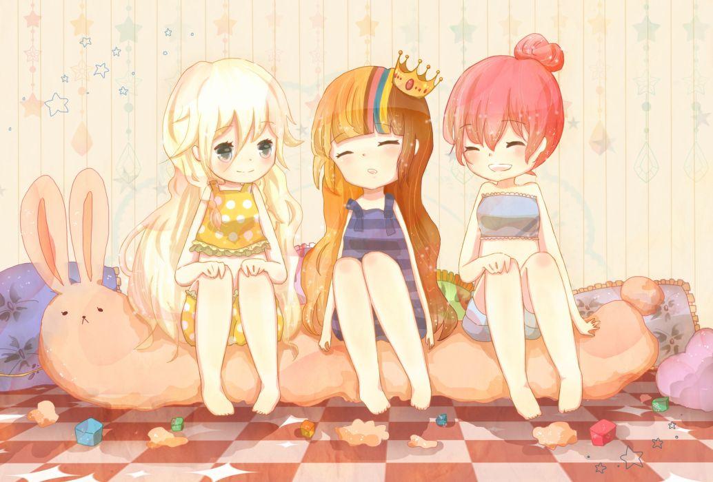 akikoloid-chan bunny crown galaco ia red hair sea-no tagme vocaloid wallpaper