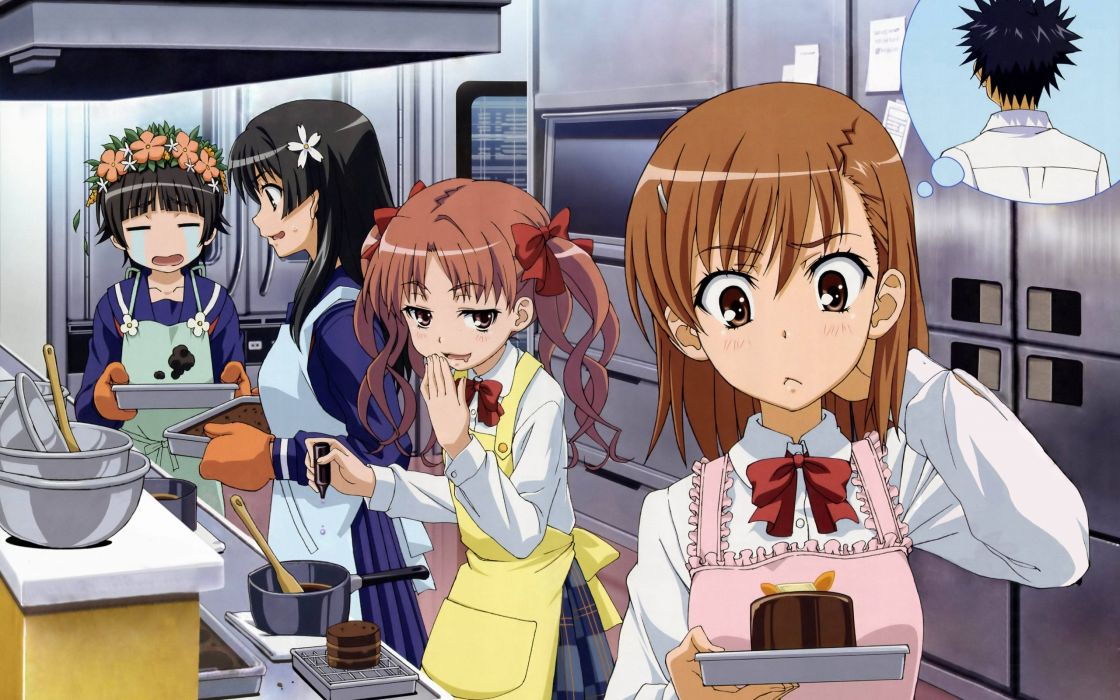 apron misaka mikoto saten ruiko seifuku shirai kuroko to aru kagaku no railgun to aru majutsu no index uiharu kazari wallpaper