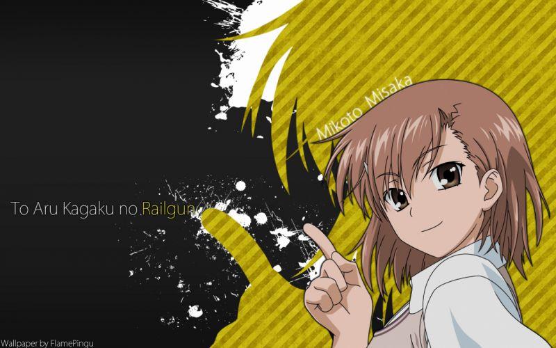 brown hair misaka mikoto to aru kagaku no railgun to aru majutsu no index wallpaper