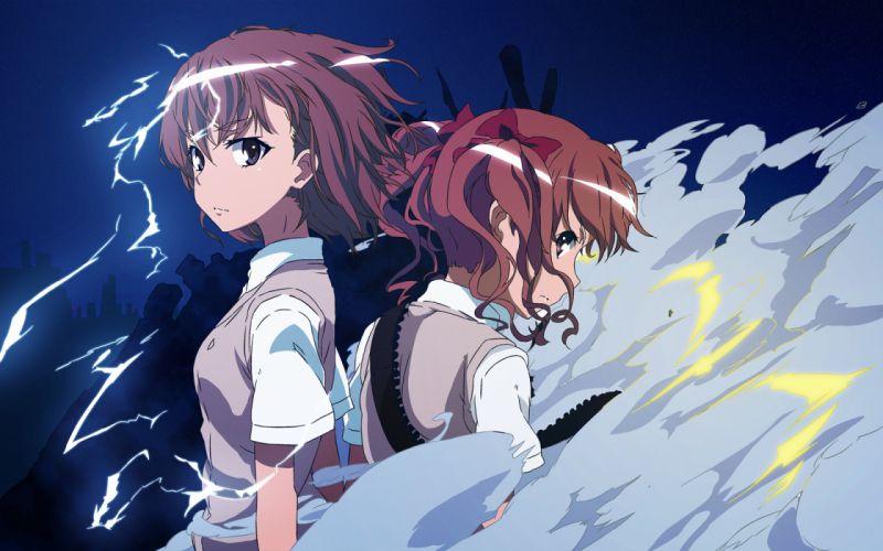 girls esperanza (wp) misaka mikoto night shirai kuroko to aru kagaku no railgun to aru majutsu no index yatanuko wallpaper