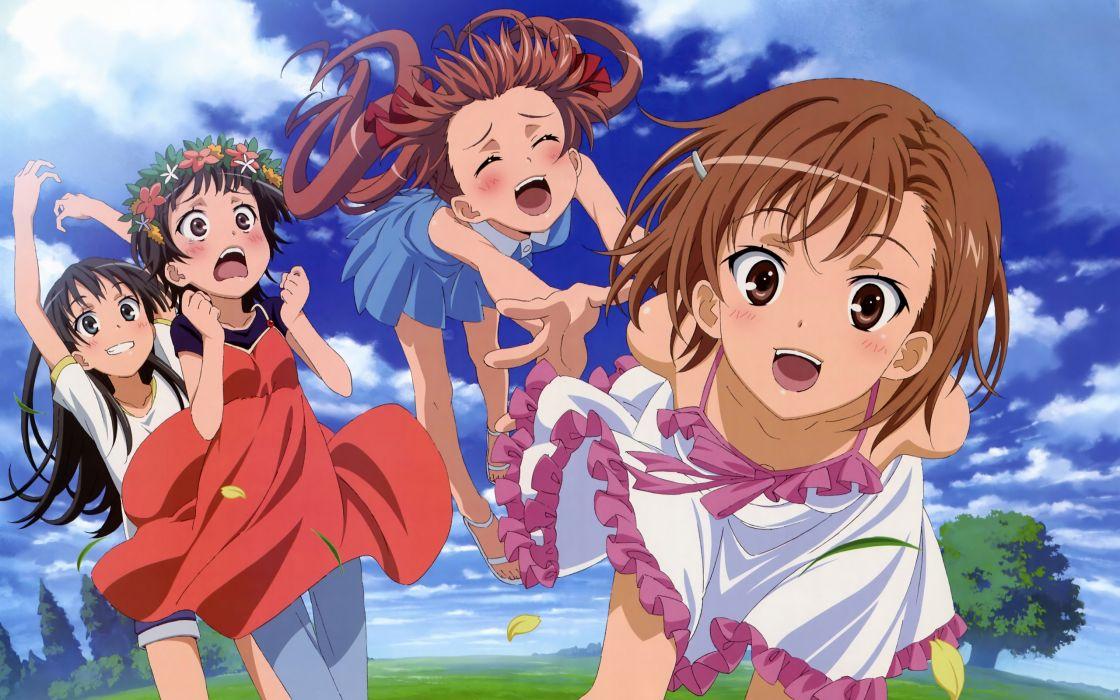 misaka mikoto nakamura naoto saten ruiko shirai kuroko summer dress to aru kagaku no railgun to aru majutsu no index uiharu kazari wallpaper