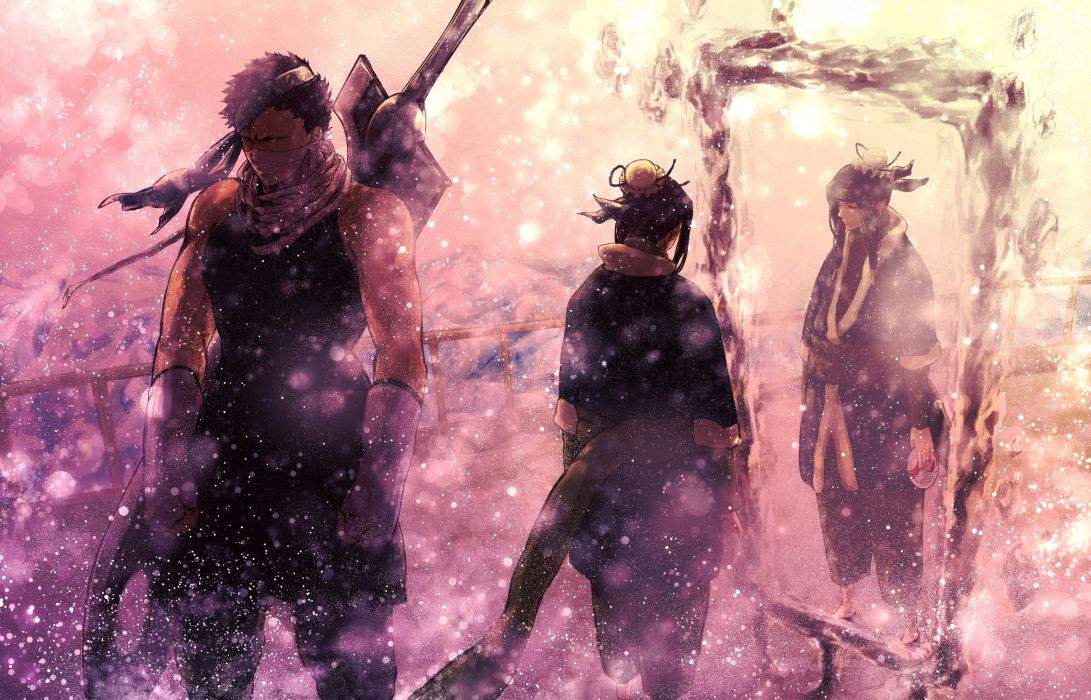 gloves haku naruto japanese clothes mask momochi zabuza naruto snow sword weapon wallpaper