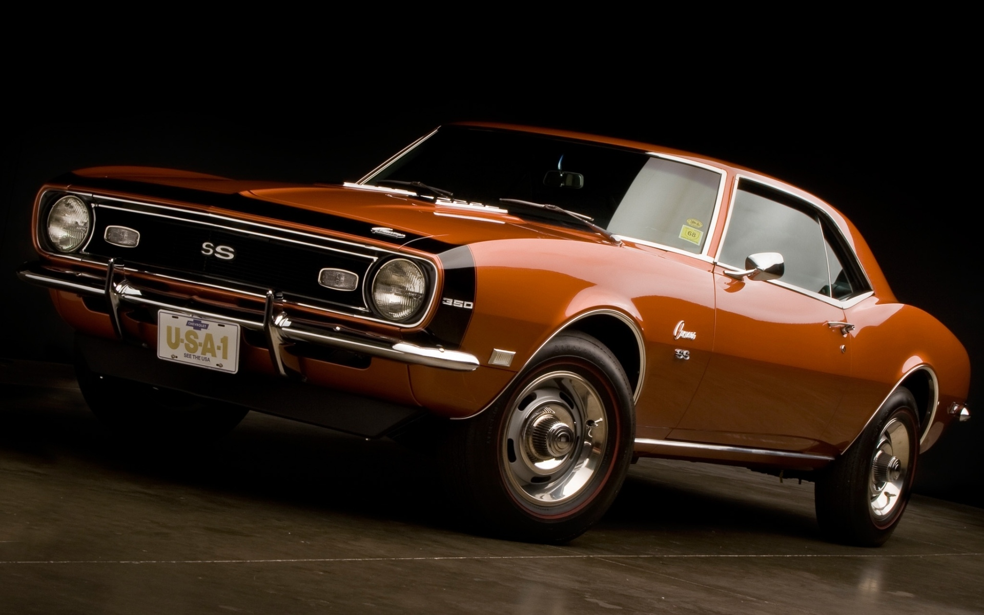 Chevrolet Camaro Ss Camaro 1968 Coupe 350 Muscle Cars Wallpaper 1920x1200 69046 Wallpaperup