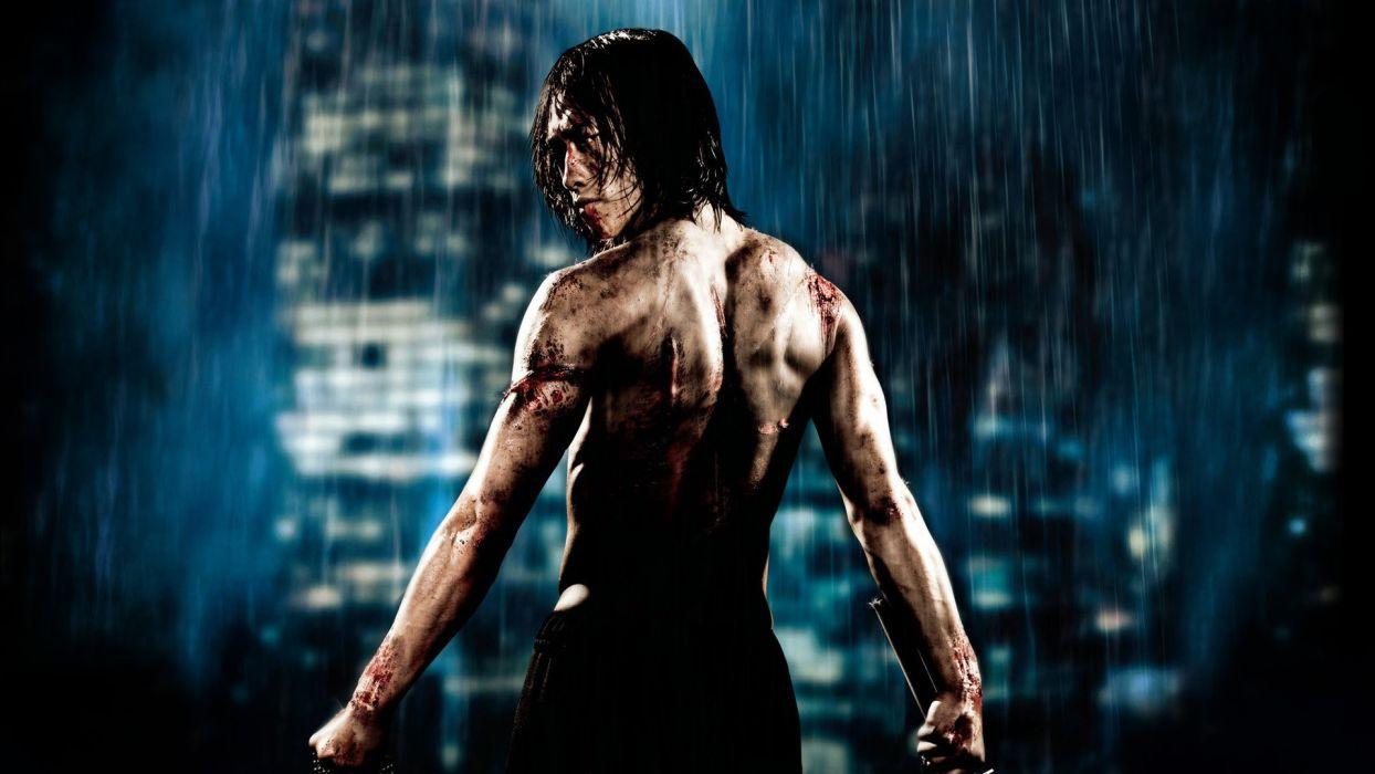 Ninja Assassin Rain Warrior Martial Arts Wallpaper
