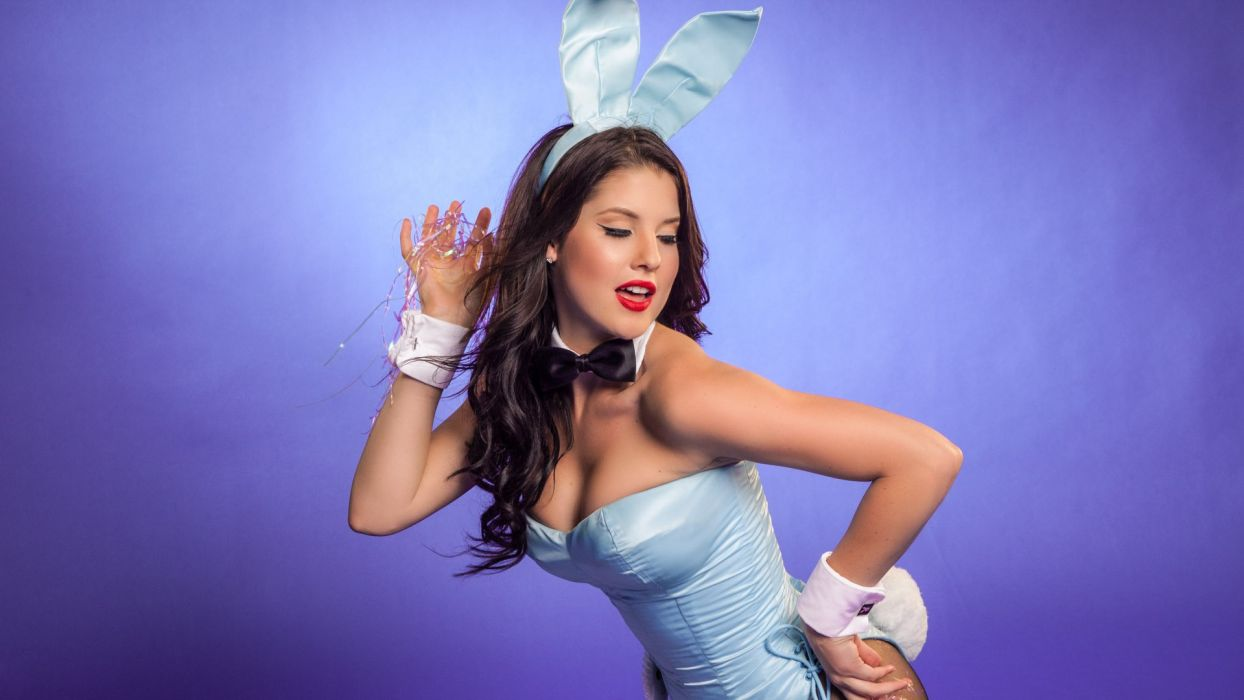 playboy sexy brunette cleavage sexy wallpaper