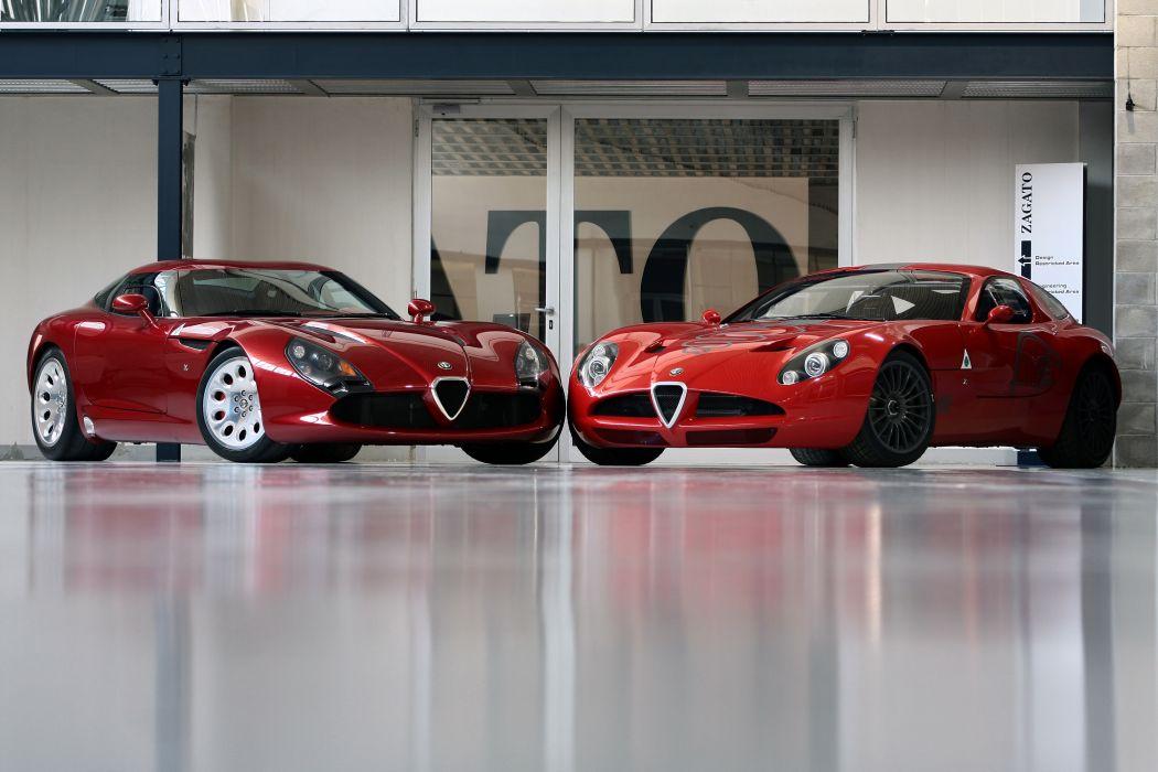 Zagato Alfa Romeo TZ3 Stradale supercar wallpaper