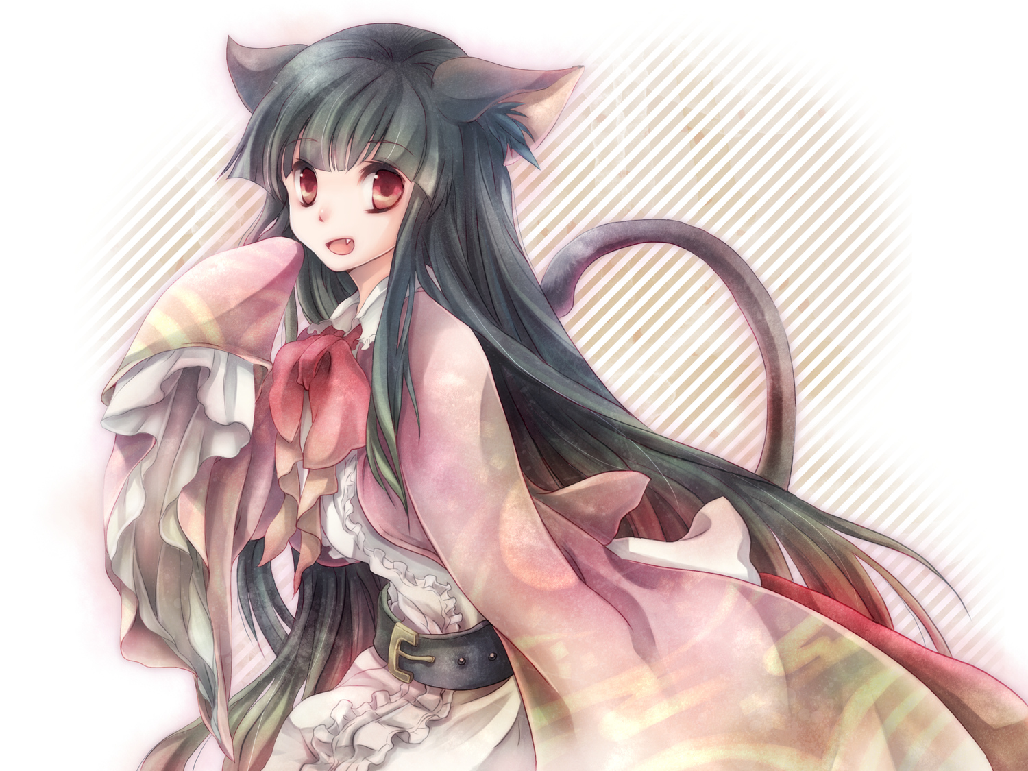 cat and tail ears Anime