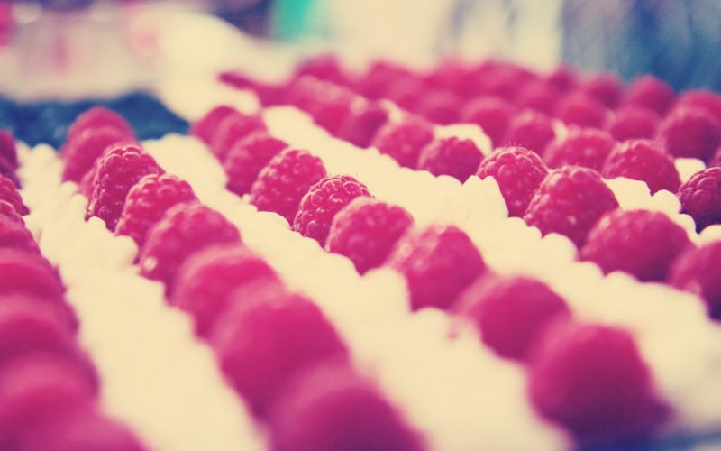 food raspberry berry row macro wallpaper