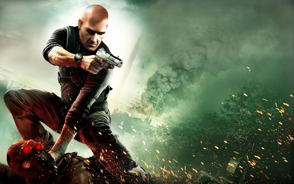 Hitman  Splinter Cell Conviction  Agent 47  Agent 47  Hitman  game  stealth-shooter  gun wallpaper