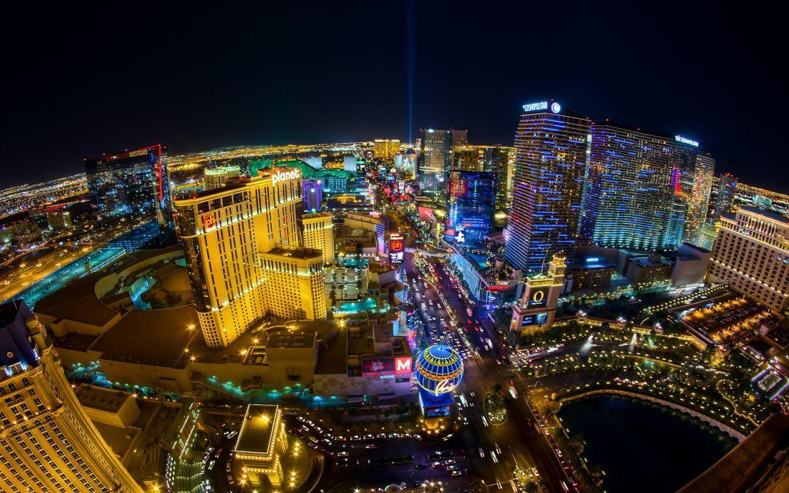 Las Vegas Night Top Horizon wallpaper